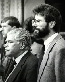 Gerry Adams Senior & Junior