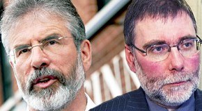Gerry Adams, Nelson McCausland