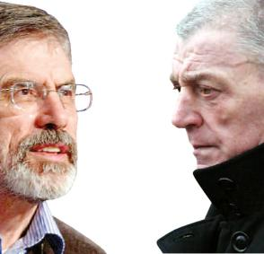 Gerry Adams, SF | Jackie McDonald, UDA