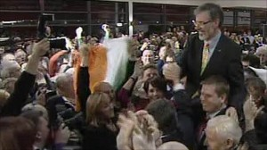 Gerry Adams elletto al Dail