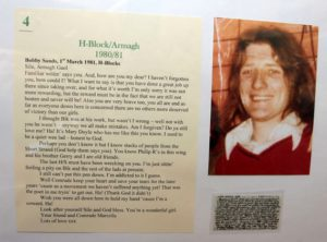 Lettera di Bobby Sands | Linen Hall Library