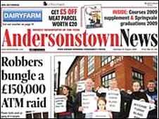Falso allarme bomba all'Andersonstown News
