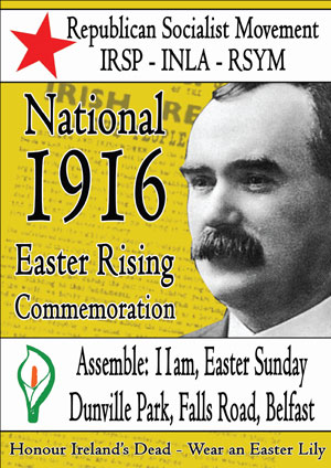 Republican Socialist Movement, Belfast, Easter Statement 2012