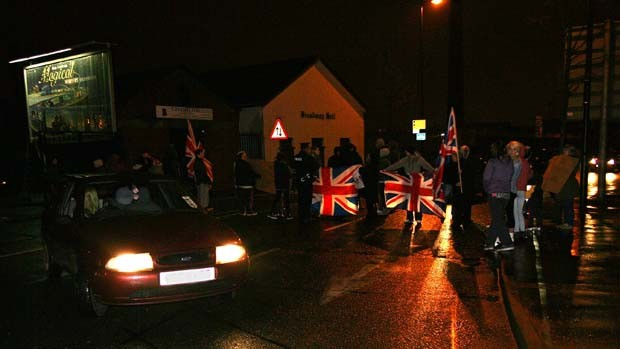 Protesta in Donegall Road