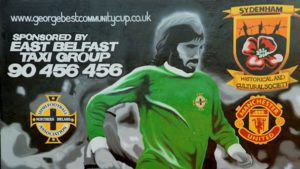 Il murales di George Best rimosso | © Albert Bridge/cc