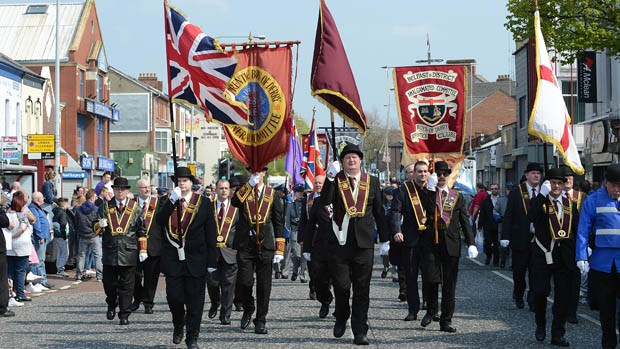 Apprentice Boys of Derry in marcia a Belfast