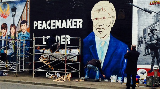 Murales per Gerry Adams a West Belfast