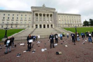 Manifestazione a Stormont - © Colm Lenaghan - Pacemaker
