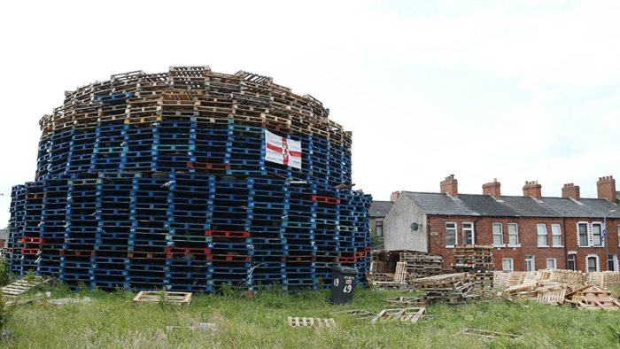 Bonfire a East Belfast